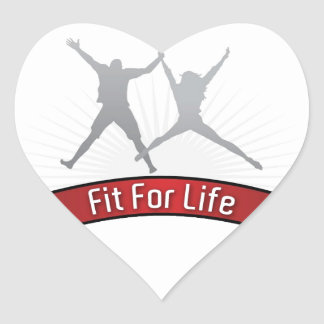 Fit For Life Heart Sticker