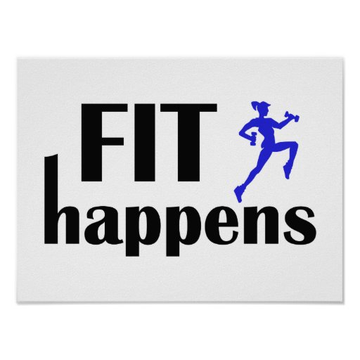 Fit Happens Workout Motivation Poster
