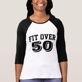 Fit Over 50 3/4 Length Sleeve Sport Jersey T-Shirt
