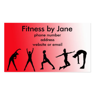 fit red Double-Sided standard business cards (Pack of 100)