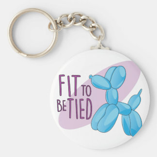Fit To Be Tied Basic Round Button Key Ring