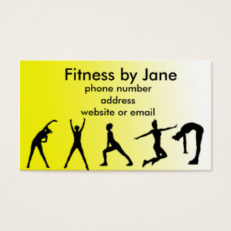 fit yellow business card
