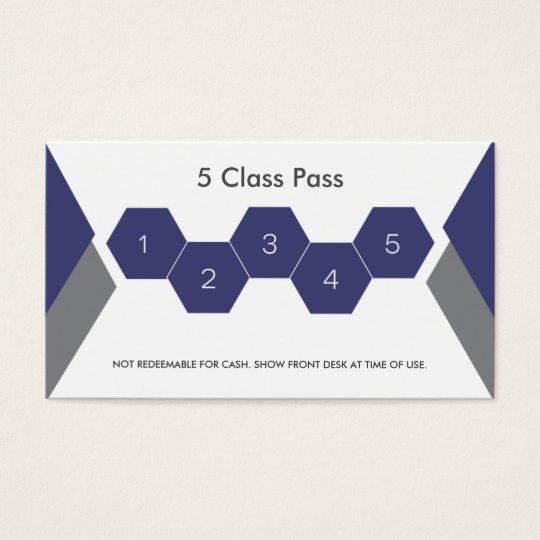 Fitness 5 Class Pass Business card