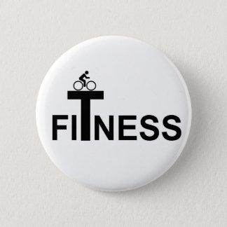 Fitness 6 Cm Round Badge