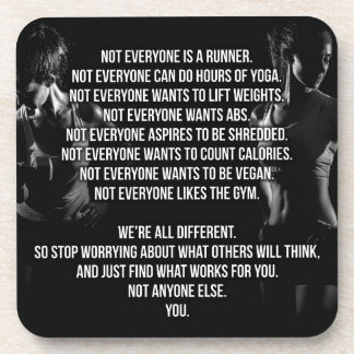Fitness and Bodybuilding Motivation Beverage Coasters