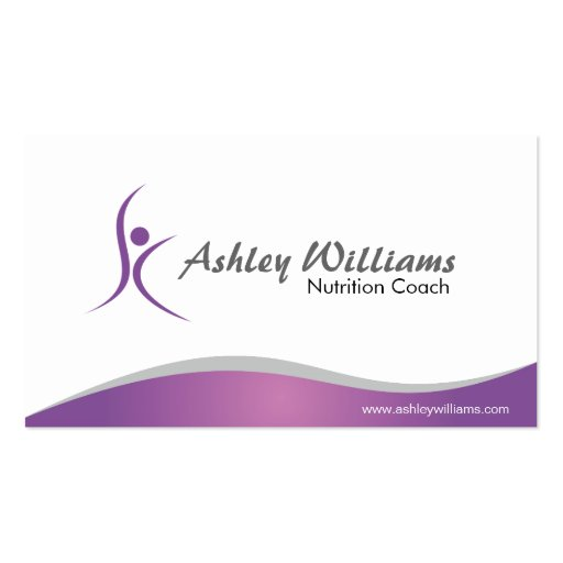 Fitness and Nutritionist - Business Cards