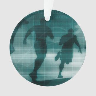 Fitness App Tracker Software Silhouette Ornament