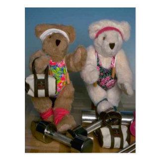 Fitness bears postcard