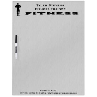 Fitness Bodybuilder Dry Erase Board