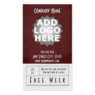 Fitness Business Card Free Week Pass