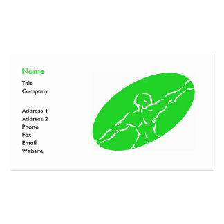 Fitness Business Card Template - green