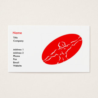 Fitness Business Card Template - Red