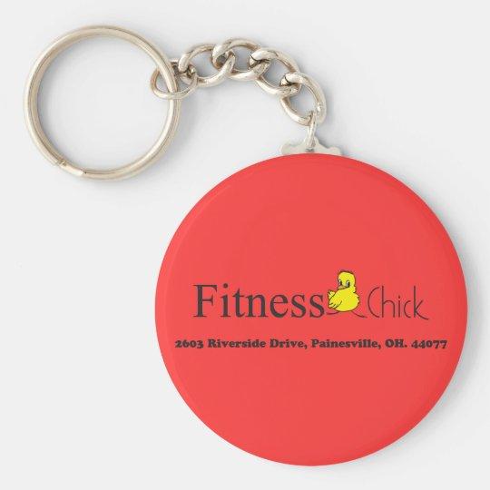 Fitness Chick Circle Key Chain