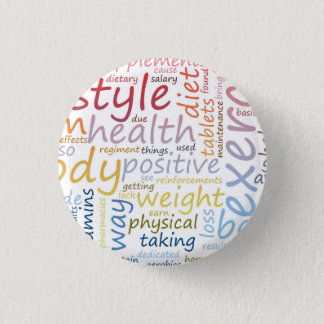 Fitness Concept for Weight Loss and Health 3 Cm Round Badge