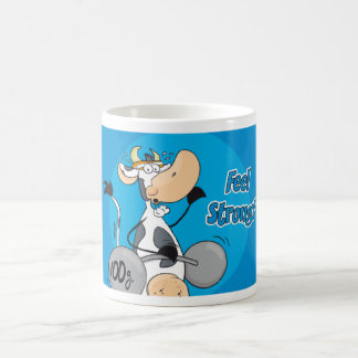 "Fitness Cow ""Feel Strong"" Coffee Mug"