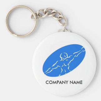 Fitness Customizable Keychain - Blue