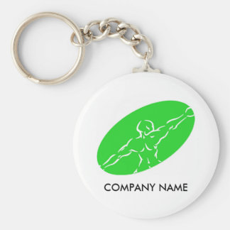 Fitness Customizable Keychain - Green