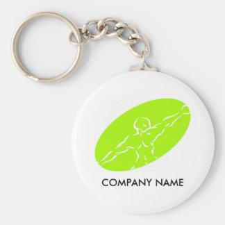 Fitness Customizable Keychain - Light Green