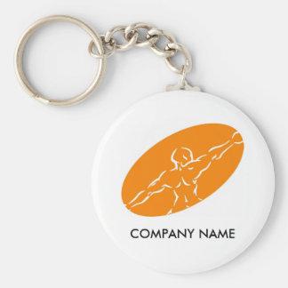 Fitness Customizable Keychain - Orange