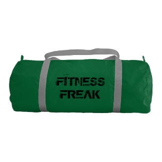 Fitness Duffle Gym Bag, Emerald with Silver straps Gym Duffel Bag