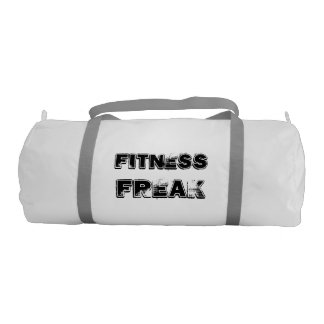 Fitness Duffle Gym Bag,white with Silver straps Gym Duffel Bag
