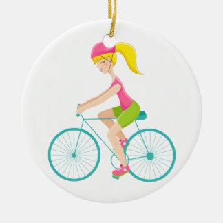 Fitness! Exercise - Biking - SRF Christmas Ornament
