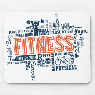 Fitness, exercise, health mouse mat