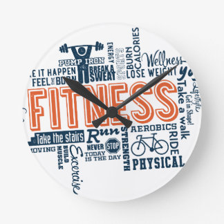 Fitness, exercise, health round clock