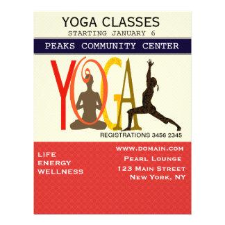 Fitness Exercise Pilates Yoga Modern Personalized Flyer