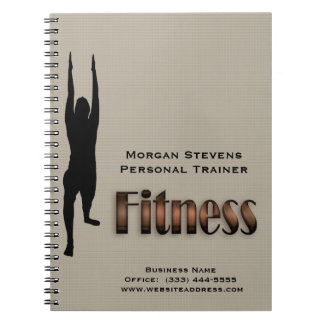 Fitness - Fitness Pose Spiral Notebook