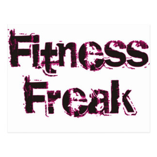 Fitness Freak - Black/Pink Postcard