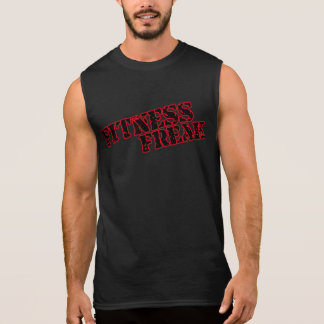Fitness Freak Men's Red Ultra Sleeveless T-Shirt