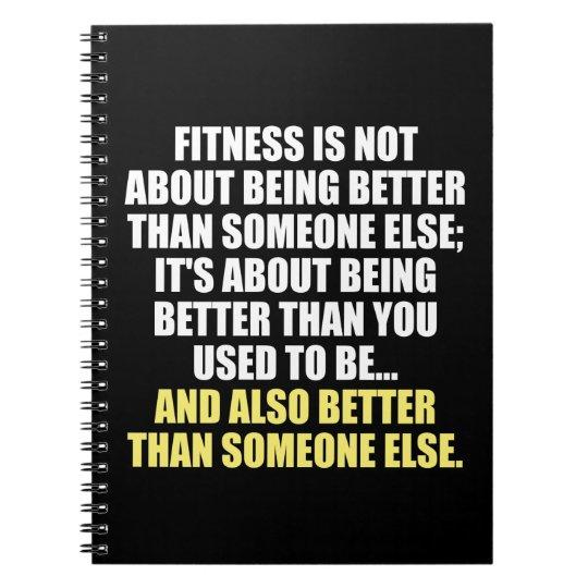 Fitness Funny Motivational Spiral Notebook