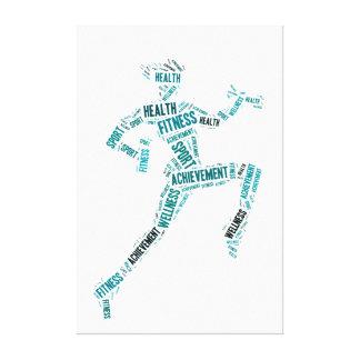 Fitness girl canvas print