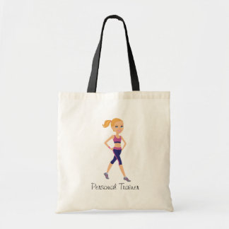 Fitness Girl Cartoon Tote Bag
