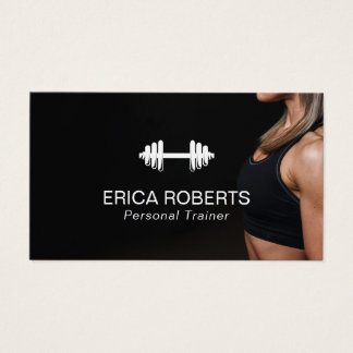 Fitness Girl Personal Trainer Professional Business Card