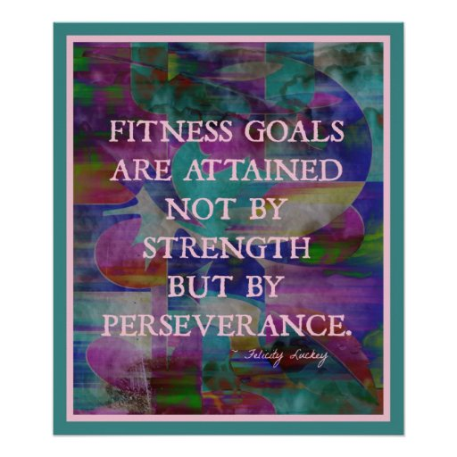 Fitness Goals in Colour #007 Poster