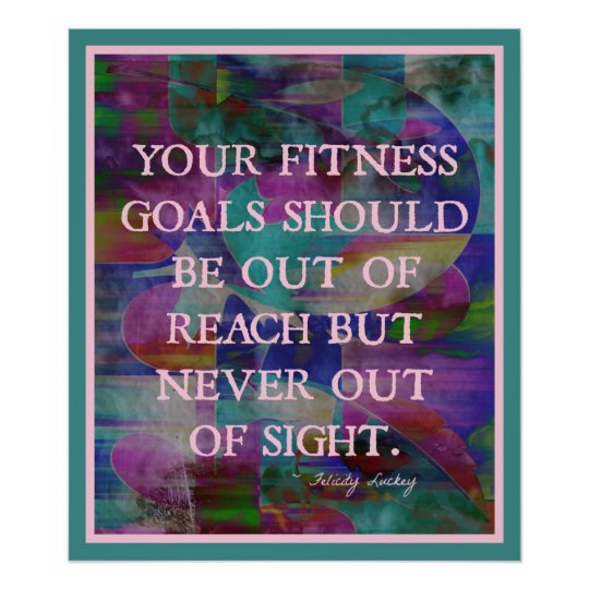 Fitness Goals in Colour #015 Poster