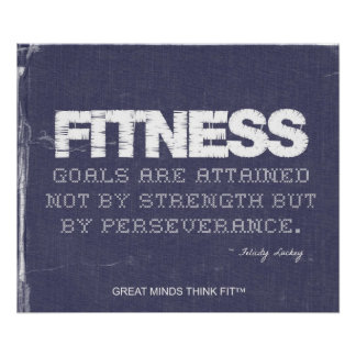 Fitness Goals in Ripped Denim Poster