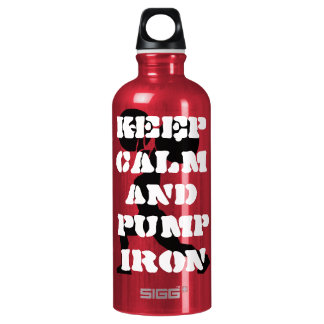 Fitness GYM keep calm and pump iron SIGG Traveller 0.6L Water Bottle