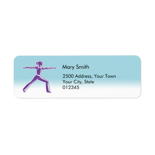 Fitness Instructor Address Label