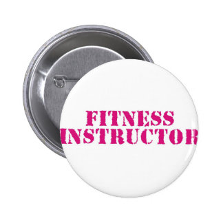 Fitness Instructor/Pink 6 Cm Round Badge