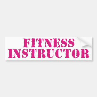 Fitness Instructor/Pink Bumper Sticker