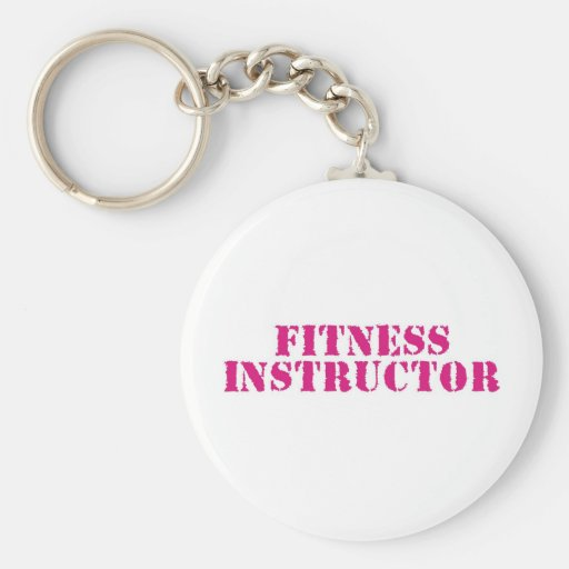 Fitness Instructor/Pink Key Chain