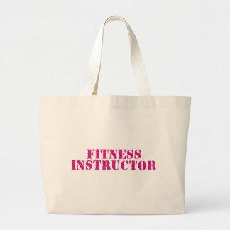 Fitness Instructor/Pink Large Tote Bag