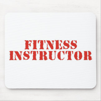 Fitness Instructor Red Mouse Pads