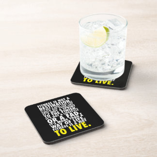 Fitness Is A Way To Live - Workout Motivational Beverage Coaster