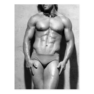 Fitness Model Postcard - 8767