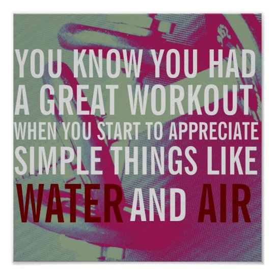Fitness motivation text cover poster