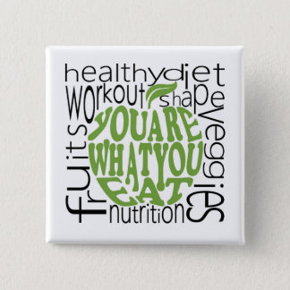 Fitness motivational design 15 cm square badge